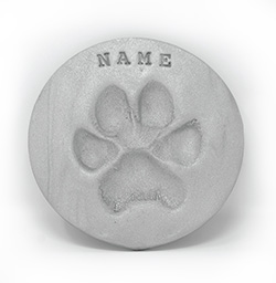Gray Clayed Paw Print